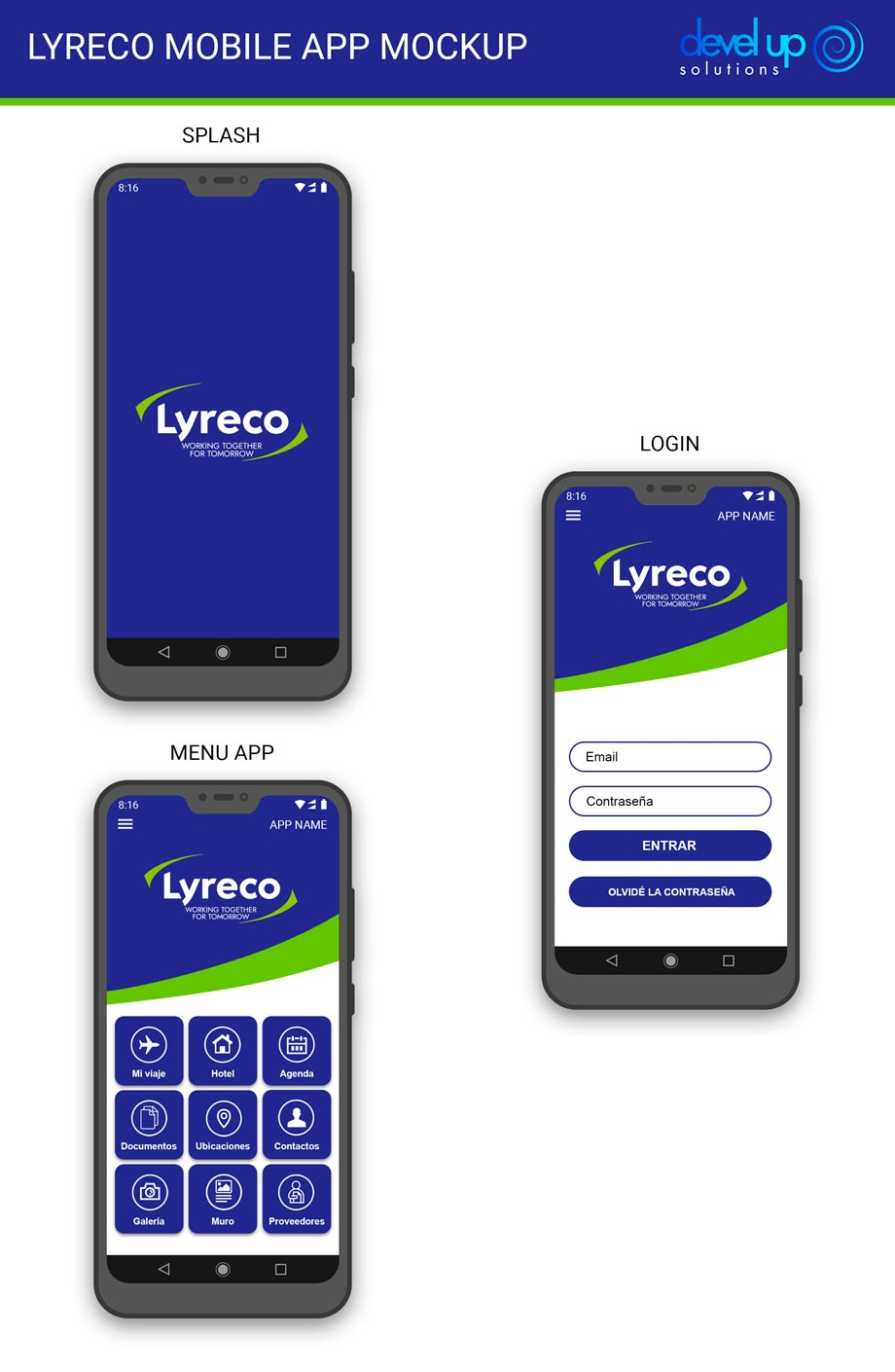 Lyreco events mobile app