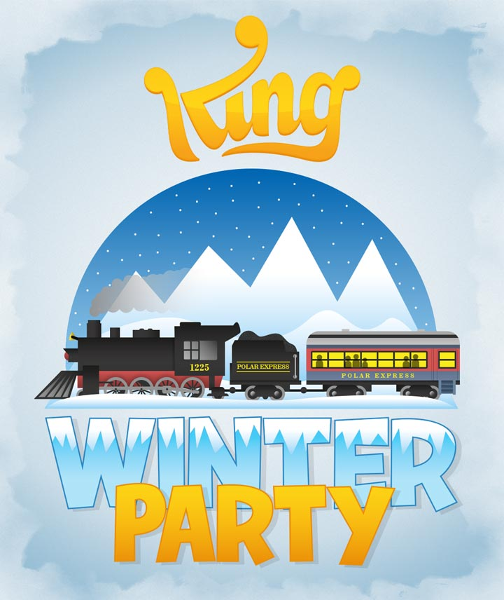king-winter-party-polar-express-poster
